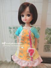 Doll Dress ~ Takara Licca Casual Print dress 1PCS NEW
