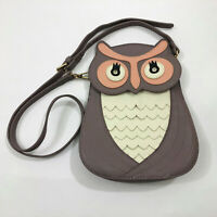 EUC Charming Charlie Gray Owl Crossbody Bag