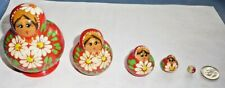 """Hand Painted Russian Nesting Doll Matryoshka 5 Piece Set Made In Russia 3"""" Tall"""