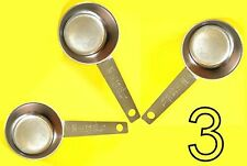 3 pc COFFEE MEASURING SCOOP 1/8 CUP Stainless Steel