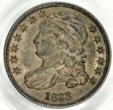 CAC PCGS MS63 1833 BUST DIME