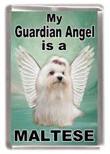 "Maltese Terrier Dog Fridge Magnet ""My Guardian Angel is a MALTESE"" by Starprint"