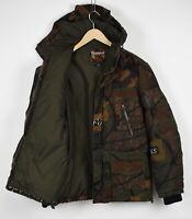DESIGUAL 97E1919 Men MEDIUM Down Filled Hooded Camouflage Parka Jacket 32732-GS