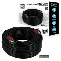 Night Owl Class 2 100' In-Wall Rated Video and Power Extension Cable in Black