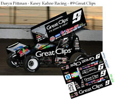CD_DSC_034 #9 Daryn Pittman - Kacey Kahne Racing Sprint Car  1:64 decals  ~SALE~