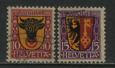 Switzerland 1918 Pro Juventute--Attractive Heraldry Topical (B10-11) fine used