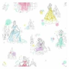 York DI0968 Disney Wallpaper Princess Pretty Elegant Unpasted Wallcoverings