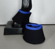 Horse Bell or Overreach Boots Black & Royal blue AUSTRALIAN MADE Protection