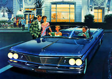 1960 Pontiac Bonneville Convertible Coupe - Promotional Advertising Poster