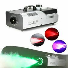 1500W LED RGB Nebelmaschine Fernbedienung DMX Fog Rauchmaschine Fog Machine DE