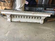 "Circa 1880 gingerbread dentil style window header pediment - 50.5"" x 12"" x 7"""