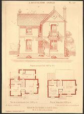 61 GACE MAISON OUVRIERE ARCHITECTE LE RECULEUR IMAGE 1917/20