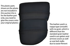 black stitch FITS MAZDA MX5 MK2 01-05 MIATA CENTRE CONSOLE CUP HOLDER COVER SKIN