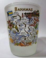 BAHAMAS MAP SHOT GLASS SHOTGLASS
