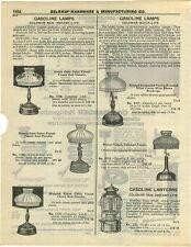 1932 PAPER AD 5 Pg Coleman Gas Gasoline Lamps Lanterns Shades Parts Repair List