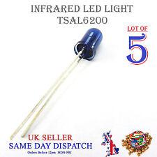 5x 940nm IR LED Lámpara Azul 5mm ir emisor tsal 6200 de alta potencia