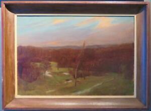 MAURICE FEILD (1905-88) original fine Oil Painting HAMPSTEAD HEATH LONDON