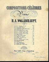 H. A. Wollenhaupt : Valse Styrienne Op. 27 No. 2 ~ übergroße alte Noten