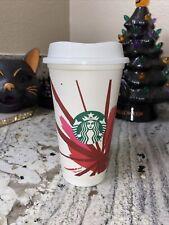 Starbucks 2012 Christmas Edition Reusable White Cup w/lid 16oz - NEW