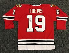 JONATHAN TOEWS CHICAGO BLACKHAWKS SIGNED RED JERSEY SIZE XL WITH BECKETT COA