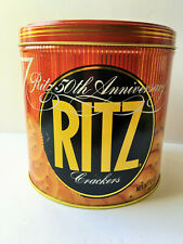 Vintage Nabisco 1984 RITZ Crackers 50th Anniversary Advertising Tin Retro