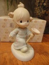 Precious Moments Figurine Faith Takes the Plunge 1987 111155 Girl w/ plunger Mib
