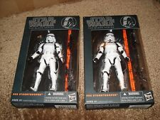 "STAR WARS 2014  ""#09 STORMTROOPER"" THE BLACK SERIES (LOT OF 2)"