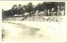 Bass River Cape Cod MA Yarmouth Sessions Village Real Photo Postcard