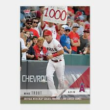 2018 Topps Now~Card #352 ~ Mike Trout ~ Keeping Pace With MLB Greats through 1k