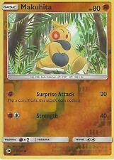 POKEMON SUN & MOON CARD: MAKUHITA - 67/149 - REVERSE HOLO