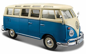 VW Bus Volkwagen Van Scale 1:25 Maisto Model Samba