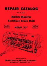 Minneapolis Moline Pf 13 16 Grain Drill Parts Manual
