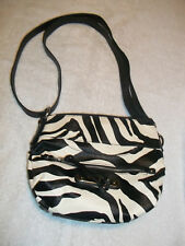 New Rosetti Zibra Black White Crossbody Bag Purse #6