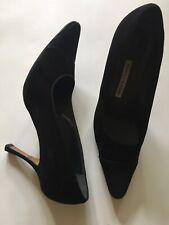 Manolo Blahnik Stilettos Pumps Black suede Like Or Velvet Like 10.5 Or 40.5