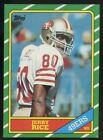 1986 TOPPS JERRY RICE #161 RC ROOKIE 49ERS CLEAN CENTERED INVEST HOT