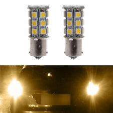 2X Car Warm White 1156 BA15S Camper Trailer 5050 27-SMD LED Interior Light Bulb