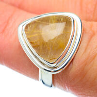 Rutilated Quartz 925 Sterling Silver Ring Size 6 Ana Co Jewelry R34614F