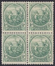 BARBADOS 1921-24 SG219 ½d  GREEN BLOCK OF FOUR MNH