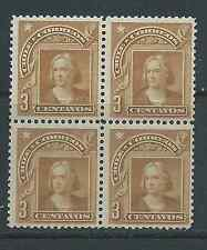 CHILE 1904 Peso Bronce 3 cts brown 2 MNH 2 MH block of 4