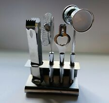Pottery Barn 5-Piece Bar Set Stainless Steel Cocktail Bartender Tool Set