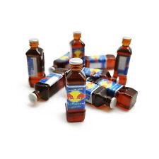 10Pcs Dollhouse Miniature 1:6 Model Thai Version Red Bull Energy Drink Bottles