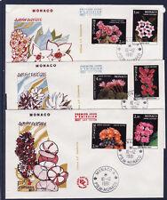 MONACO   enveloppe 1er jour  les plantes du jardin exotique     1981