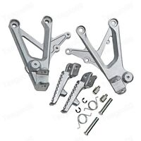 Motorbike Front Foot Pegs Bracket Fit For Honda CBR600 F4 F4i 1999-2006 Silver