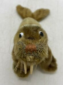 Old Estate Sale Find Vintage Steiff Paddy Walrus Stuffed Toy Plush Mohair Doll