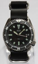 SEIKO 7002-7001 Vintage Diver Bond Watch Classic Dial Automatic ZULU Strap