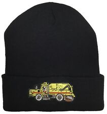 City Of Los Angeles Street Sweeper Truck Knit Beanie Color Black Hat