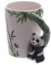 NOVELTY PANDA SHAPED 3D HANDLE COFFEE MUG CUP NEW IN GIFT BOX