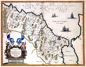 Reproduction carte ancienne - Maroc en 1635 (Morocco)
