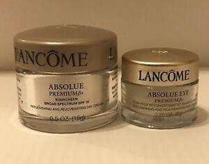 NEW Lancome Absolue Premium Bx Replenishing & Rejuvenating Day Cream & Eye Cream