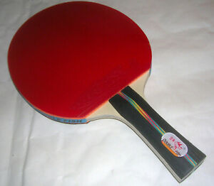 Decent Long handle (Shakehand) Ping Pong Paddle Table Tennis Racket Bat Blade